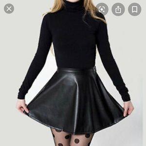 American Apparel vegan leather circle skirt M